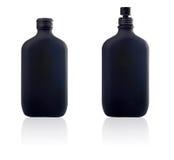 Bouteille deux de parfum et de jet Photographie stock libre de droits