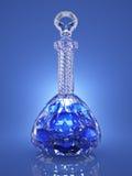 Bouteille en cristal de poison Photographie stock