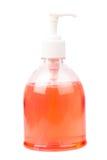 Bouteille en plastique avec du savon liquide Photographie stock libre de droits