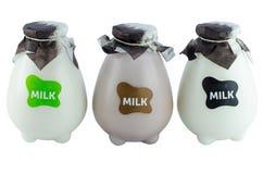 Bouteille en plastique de lait Images libres de droits