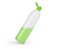 Bouteille en plastique de shampooing, d'isolement sur le fond blanc Images libres de droits