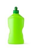 Bouteille en plastique verte avec le liquide de nettoyage Photos stock