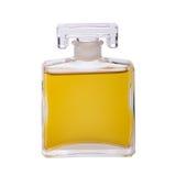 Bouteille de parfum d'isolement sur le blanc Photo stock