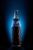 Bouteille en verre de Pepsi Photos libres de droits