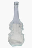 Bouteille en verre de violon Photo stock