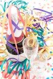 Bouteille et cannelures de Champagne Photos stock