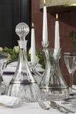 Bouteille et carafe en cristal Photos stock