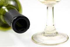 Bouteille et glace de vin Image libre de droits
