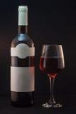 Bouteille et glace de vin Image stock