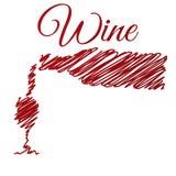 Bouteille et tasse de vin. Images stock