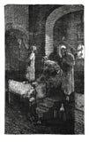 Bouteille faisant la gravure antique Images libres de droits