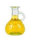 Bouteille jaune d'huile végétale images libres de droits