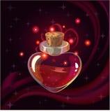 Bouteille magique rouge Image stock