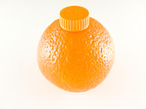 Bouteille orange Photographie stock