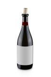 Bouteille ouverte de vin rouge Photographie stock