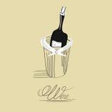 Bouteille pour le vin Images stock
