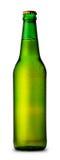 Bouteille verte de bière et de baisses images stock