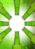 Bouteilles à bière Images libres de droits