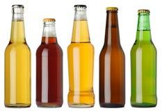 Bouteilles à bière blanc Photographie stock libre de droits
