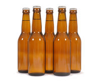 Bouteilles à bière de Brown Photo stock