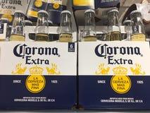 Bouteilles à bière de couronne photographie stock libre de droits