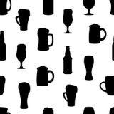 Bouteilles à bière Silhouettes noires Illustration de vecteur Image libre de droits