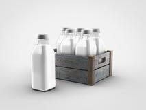 Bouteilles à lait illustration de vecteur