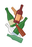 bouteilles illustration de vecteur