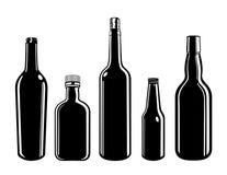 bouteilles illustration libre de droits