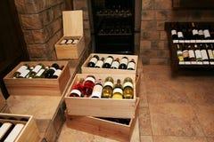 Bouteilles avec du vieux vin Image libre de droits