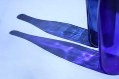 Bouteilles bleues Photographie stock libre de droits