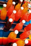 Bouteilles colorées Images stock