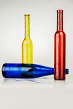 bouteilles colorées Photo libre de droits