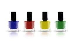 Bouteilles colorées de vernis à ongles photo libre de droits