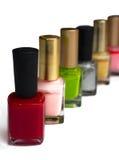 Bouteilles colorées de vernis à ongles Photographie stock
