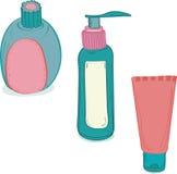 Bouteilles cosmétiques Images stock
