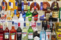 Bouteilles d'alcool Image stock