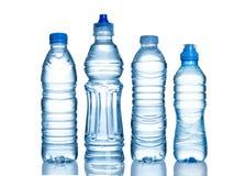 Bouteilles d'eau Photos libres de droits