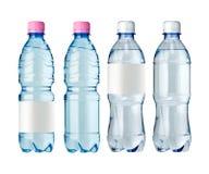 Bouteilles d'eau avec l'étiquette Photo libre de droits
