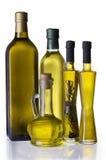 Bouteilles d'huile d'olive Photos libres de droits