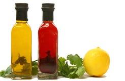 Bouteilles d'huile d'olive Photo stock