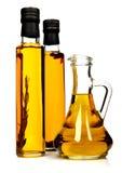 Bouteilles d'huile d'olive aromatique. Photos stock