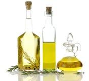 Bouteilles d'huile de cuisine Images libres de droits