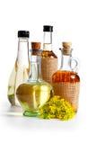 Bouteilles d'huile Images libres de droits