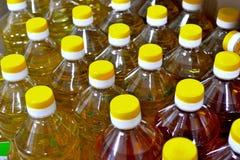 Bouteilles d'huile végétale Photo stock
