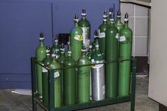 Bouteilles d'oxygène Images stock