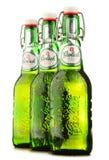 Bouteilles de bière de Grolsch d'isolement sur le blanc Images stock