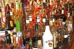 Bouteilles de boisson alcoolisée Photos libres de droits