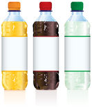 Bouteilles de boisson non alcoolique Photos stock