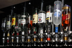 Bouteilles de boissons alcoolisées Image stock
